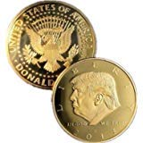 The Official 2018 Gold Donald Trump Commemorative Coin - Authentic 24k Gold Collectible Coin of 45th President of the United States - Republican Collectibles Challenge Memorabilia Gift [CASE INCLUDED]