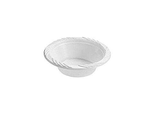 100 X White Plastic 12oz Disposable Bowls G&S PACKING UK LTD