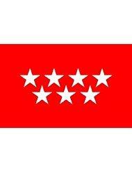 5X3 Madrid Bandera de Madrid 152cm x 91cm 100/% Fabricado EN Espana