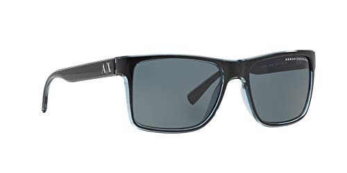 Sunglasses Exchange Armani AX 4016 805187 BLACK/TRANSP. BLUE GREY by A|X Armani Exchange (Image #11)