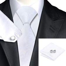 [Dan Smatree Paisely White Tie Mens Necktie 1940s Wedding Business Silk Necktie] (Ski Costumes)