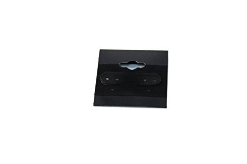 Regal Pak Hängekarten für Ohrringe, Schwarz, Schwarz, Schwarz, 100 Stück in Einer Packung, 3,8 x 3,8 cm von Regal Pak B017URFDOI    | Feinen Qualität  32ec06
