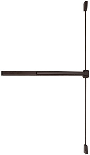 Von Duprin 2227EO Surface Mounted Vertical Rod Exit Device from The 22 Series for 4' Wide Doors, Sprayed Dark Bronze Finish ()