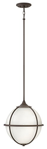 Odeon Transitional Pendant - Hinkley Lighting Odeon Oil Rubbed Bronze Pendant Light w/3 Light 100W