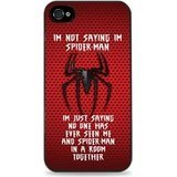 Spider Man Edge Of Time All Costumes (I'm Not Saying I'm Spiderman Hardshell Case for iPhone 5 / 5S - Black)