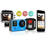 (Action! 4K WiFi Sports Action Camera Ultra HD Waterproof | 170° Ultra Wide-Angle Len | 2 - Rechargeable Batteries and Full Accessories Kit)
