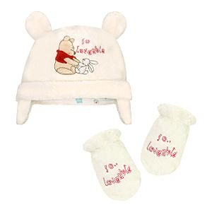 9e38a2cbf1f Image Unavailable. Image not available for. Color  Disney Fleece Winnie the Pooh  Hat and Mitten Set ...