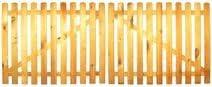 gerade Ausf/ührung gerade kdi // V2A Edelstahl Schrauben verschraubt StaketenTor Premium 300x120//120 cm aus getrocknetem Holz glatt gehobelt kesseldruckimpr/ägniert