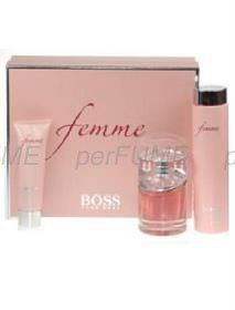 b8b348ad9c11d1 Image Unavailable. Image not available for. Colour   quot Boss Femme  Perfume Gift Set 75ml EDP Spray, 200ml Body Lotion ...