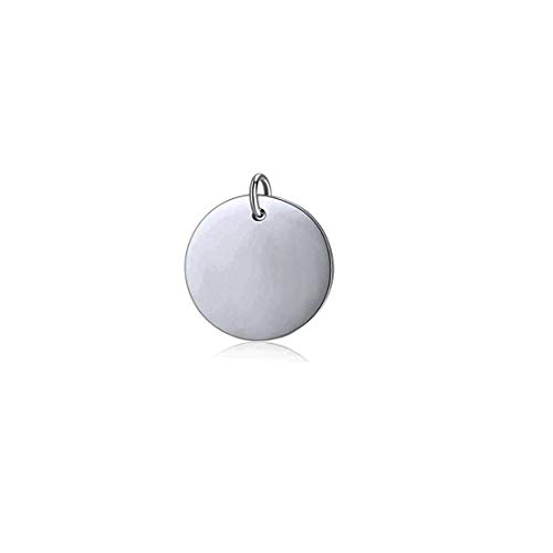 Mei Show 925 Sterling Silver Round Disc Pendant Blank Stamping Tag Necklace Bracelet Earring Pendant Charms ()