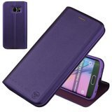 Nouske Samsung Galaxy S6 Edge Wallet Case with Credit Card Holder and Stand Shockproof PU leather Flip Bumper,Purple