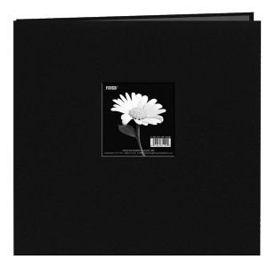 MB10CBF-DB 12 x 12 Fabric Frame Scrapbook Deep Black ()