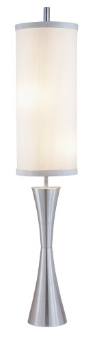"Adesso 4505-22 Geneva 74.25"" Floor Lamp, Steel, Smart Outlet Compatible"