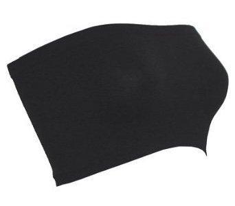 Seamless Strapless Bandeau Bra Cover - Black O/S