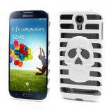 JUJEO Hollow Ladder Skull for Samsung Galaxy S4 SIV i9500 SGH-I337 Plastic Case, Non-Retail Packaging, White