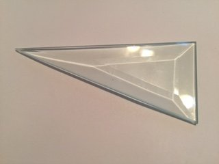 2.5x5'' Isos Triangle Premium 1/2'' Beveled Glass - Pkg of 60 by Unknown (Image #1)