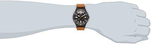 Amazon.com: Swatch Mens Irony YWB402 Brown Leather Swiss Quartz Watch with Black Dial: Swatch: Watches