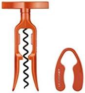 Le Creuset GS100 Sacacorchos de Mesa y cortacápsulas Extracción de Tapones de Vino, Policarbonato, Naranja