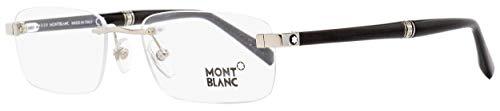 Montblanc MB9101 Rimless Eyeglasses 9101 (F80 Rhodium/Black