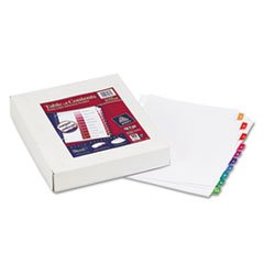 * Ready Index Table/Contents Dividers, 10-Tab, 1-10, Letter, Assorted, 2 by MotivationUSA