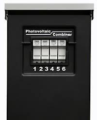 (Midnite Solar MNPV6 Combiner, accommodates six 150VDC breakers or 4 600VDC fuse holders)
