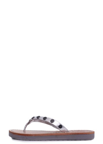Tory Burch Ricki Flip Flop in Silver 8