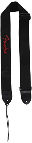 Fender 2 Black Poly Strap, Red