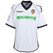 Kappa Valencia C.F. - Camiseta de fútbol para niño, color blanco, 2010-11