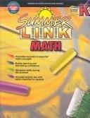 Summer Link Math:  Summer Before, Grade K
