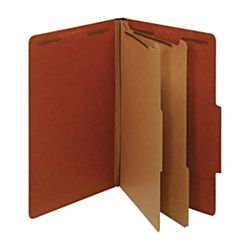 office-depot-classification-folders-2-1-2in-expansion-legal-size-2-dividers-60-recycled-red-pack-of-
