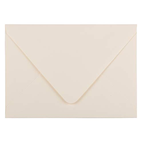 Cream Invitations (JAM PAPER A7 Invitation Envelopes with Euro Flap - 5 1/4 x 7 1/4 - Ivory - 50/Pack)