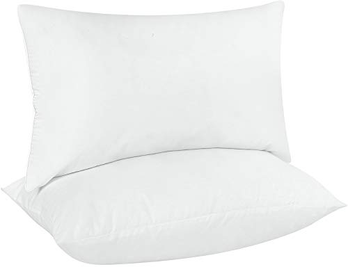 Utopia Bedding Throw Pillows Insert (Pack of 2, White) - 12 x 20 Inches Bed and Couch Pillows - Indoor Decorative Pillows ()