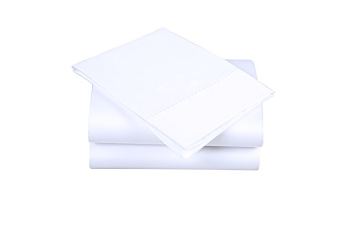 Affluence 600 Thread Count 100% Cotton Embroidered Sheet Sets - Dot Pattern (Queen Sheet Set, (Dot Embroidered 400 Thread)