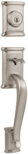 (Kwikset 800ADHLIP-15S Ashfield Single Cylinder Exterior Handleset Smart Key Satin Nickel Finish)