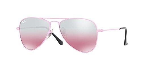 Ray-Ban Kids' 0rj9506s211/7e52junior Non-Polarized Iridium Aviator Sunglasses, Pink, 52 - Rayban Aviator Pink