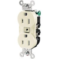 Hubbell Wiring CR20GRY Straight Blade Products, Commercial Series Duplex Receptacle, Gray