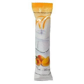 - Moist Cotton Towel - Peach-Mango (Case of 50)
