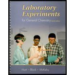 Laboratory Experiments for General Chemistry, Hunt, Harold R. and Block, Toby F., 003032906X