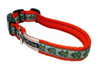 Quick Dry Comfortable Air Dog Collar(Red Geckos)(Small)