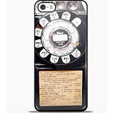 Vintage Payphone Design Gno for Samsung Galaxy and Iphone Case (iPhone 5/5S black)