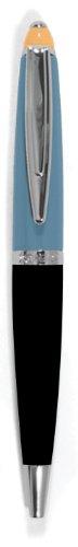 (Xonex Tri-Tone Enamel Ball Point Pen, Twist Style, Xonex Refill #10031, 4-1/4 Inch, Slate/Black (10785))