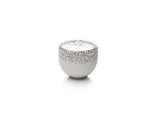 Mikasa Shimmer Vine Sugar Bowl with Lid