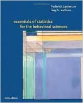 Book Essentials of Statistics for the Behavioral Science 6th (sixth) edition Text Only