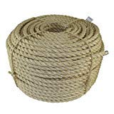 Tie-Downs - SGT KNOTS Moisture//Weather Resistant Decor Projects Cat Scratching Post Marine Indoor//Outdoor All Natural Fibers Twisted Sisal Rope 50 feet 3//8 inch Wicker Chair