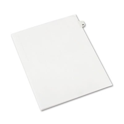 Avery-Style Legal Side Tab Divider, Title: 28, Letter, White, 25/Pack, Sold as 25 Each