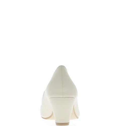 Tacón de 6.5 cm bombas mujer beige grande tamaño