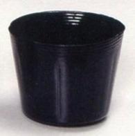 【6000個】 ポリポット 黒 6cm 明和 代不 B01LX6UX6M