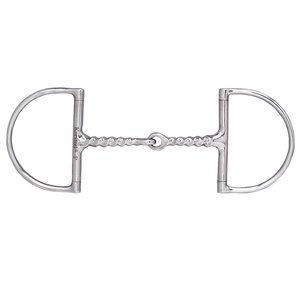Dover Saddlery Corkscrew Hunter D-Ring Snaffle Bit, 5