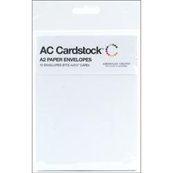 Bulk Buy: American Crafts Envelopes A2  12/Pkg White