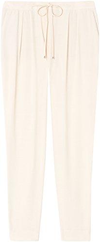 FIND Pantalón Fluido Estilo Jogger con Pinzas para Mujer Beige (Summer Sand)